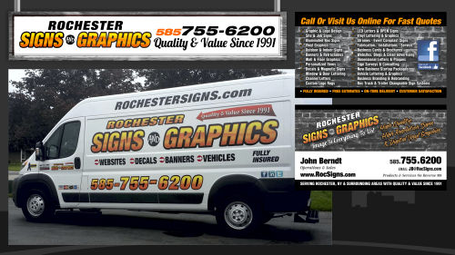 Rochester NY Signs Graphics Signs Banners Wraps Vinyl Lettering - Business vehicle decals