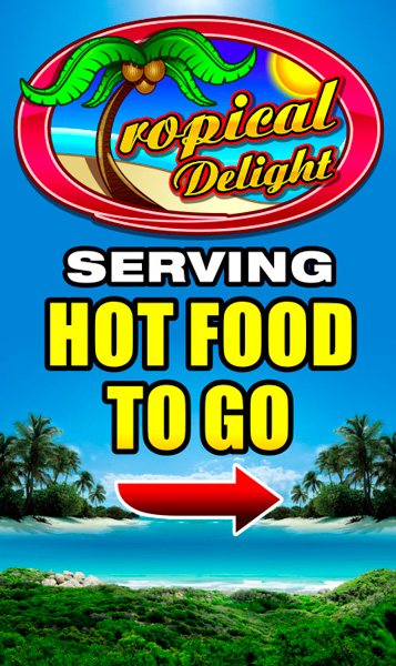 Tropical Delight Frame Sign Rochester Signs And Graphics