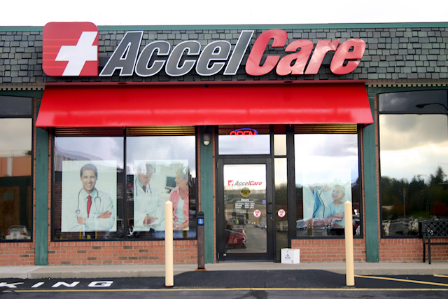 Accelcare Outdoor Awnings from Rochester Signs and Graphics