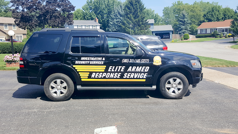 Vehicle Graphics and Lettering for Elite Armed Response Service