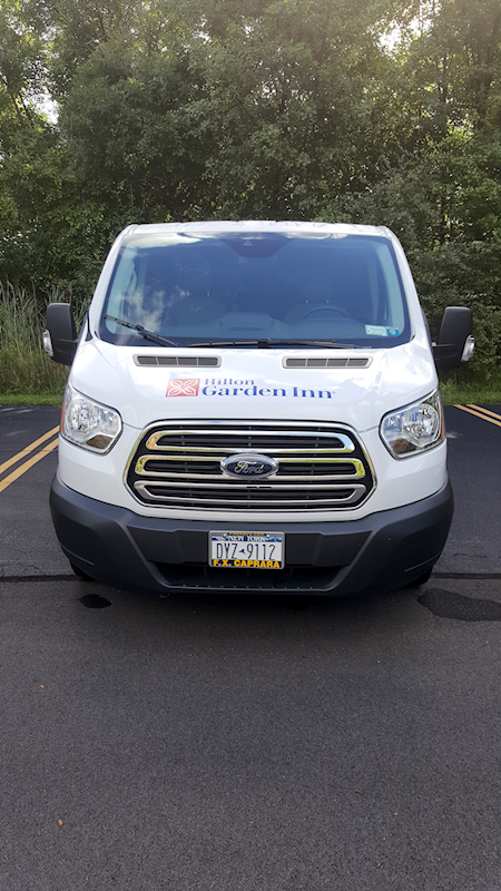 Hilton Garden Inn Pittsford NY Vehicle Lettering and Graphics by RSG