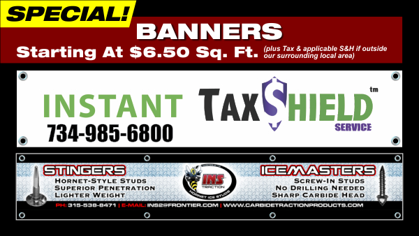 Indoor and Outdoor Banner Special