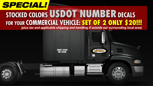 US DOT Numbers Special